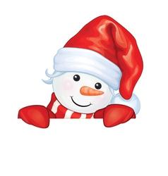 snowman hide vector image vector image