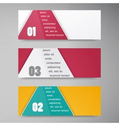 trianguljar banner 2 100913 vector image vector image