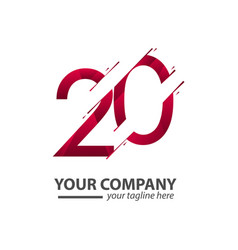 20 year anniversary your company template design vector