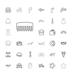 33 silhouette icons vector