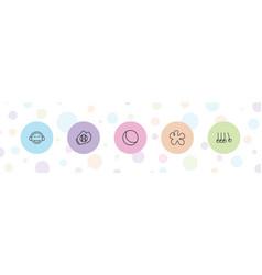 5 ball icons vector