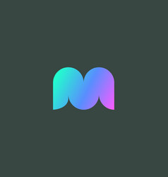 abstract colorful gradient letter m w logo icon vector image