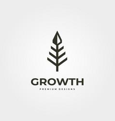 Arrow up tree logo business symbol design vector
