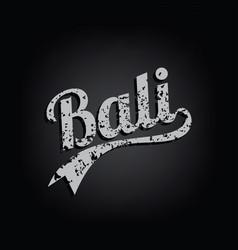 bali paradise island retro varsity text grungy vector image