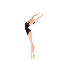 ballet dancer beautifull professional ballerina vector image