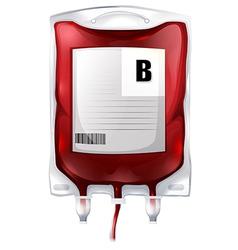 Blood bag B vector