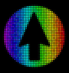bright dot rounded arrow icon vector image