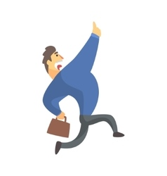 Businessman Top Manager In A Suit Running vector
