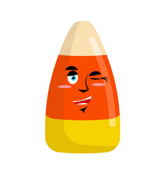 Candy corns winking emoji sweet emotion happy vector