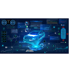 Car service in style hud vector