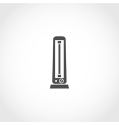 Carbon heater icon vector image