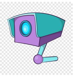 cctv camera icon cartoon style vector image
