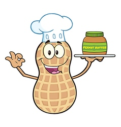 Chef Peanut Cartoon vector