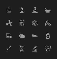 Chemical - flat icons vector