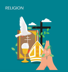 Christianity religion flat style design vector