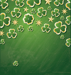 clover pattern for st patricks day with copy vector image
