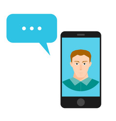 concept of online chat man app icon vector image