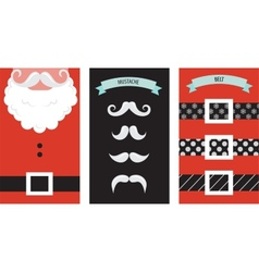 Create your own hipster Santa Christmas card vector image