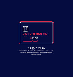 credit card isolated on dark vector image