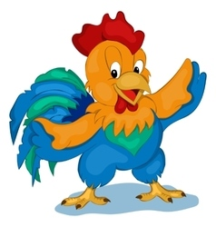 Cute and happy Rooster Simple cartoon vector image