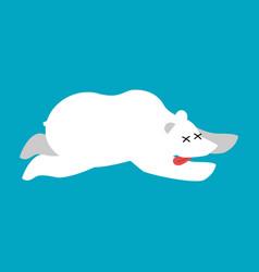 dead polar beararctic and antarctic wild beast vector image