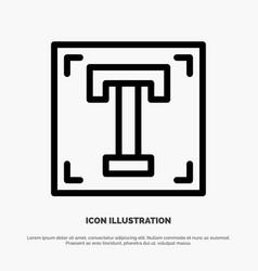Designer font path program text line icon vector