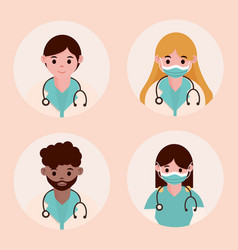 Doctor hero physicians medical staff professional vector