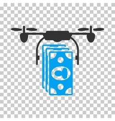 Drone Banknotes Payment Icon vector image