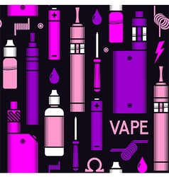 Endless vape background vector image