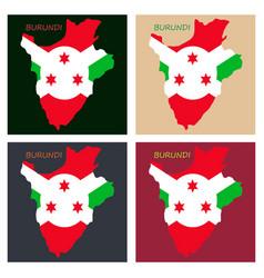 flag map of burundi vector image
