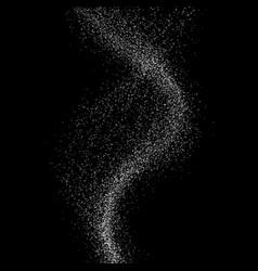flame wave on black background vector image