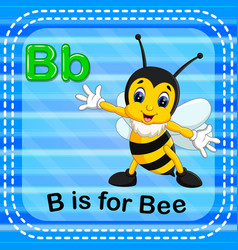 flashcard letter b is for bee vector image