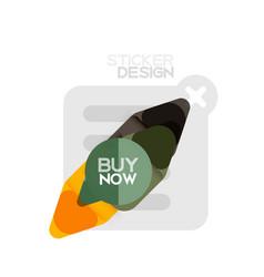 Flat design triangle arrow shape geometric sticker vector