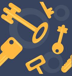flat keys seamless pattern vector image