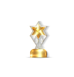 gold star trophy award concept isolated vector image