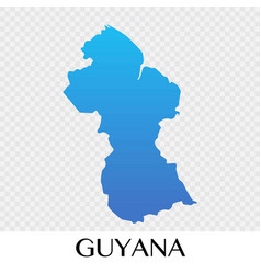 Guyana map in south america continent design vector
