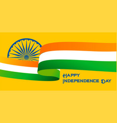 Happy independence day indian flag background vector