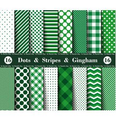 Happy st patricks day set sixteen seamless vector