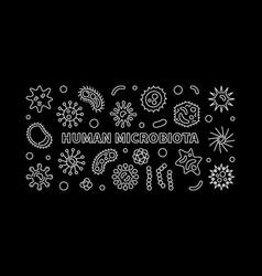 human microbiota horizontal banner vector image