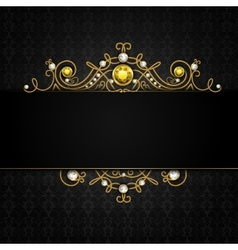 Jewellery black background vector