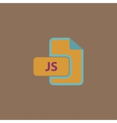 JS file extension vector image