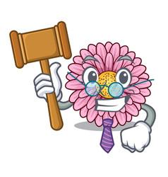 Judge gerbera flowers in the cartoon shape vector