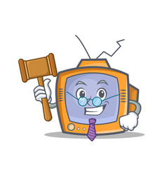 Judge tv character cartoon object vector