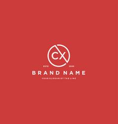 Letter cx logo design vector