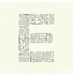 Letter E Golden Monogram Design element vector