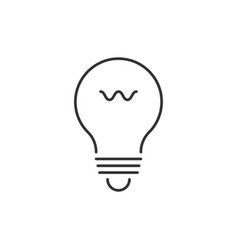 lightbulb outline icon vector image