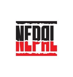 Nepal help earthquake - logo vector