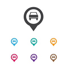 of car symbol on location icon vector image