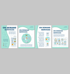 On demand economy brochure template layout vector