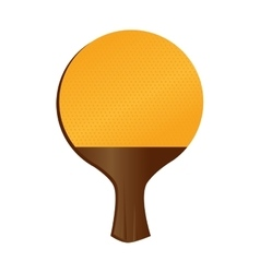 racket wooden rubber yellow vector image